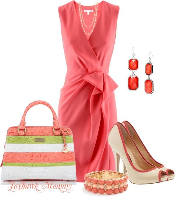 """Coral"" by jayhawkmommy on Polyvore"