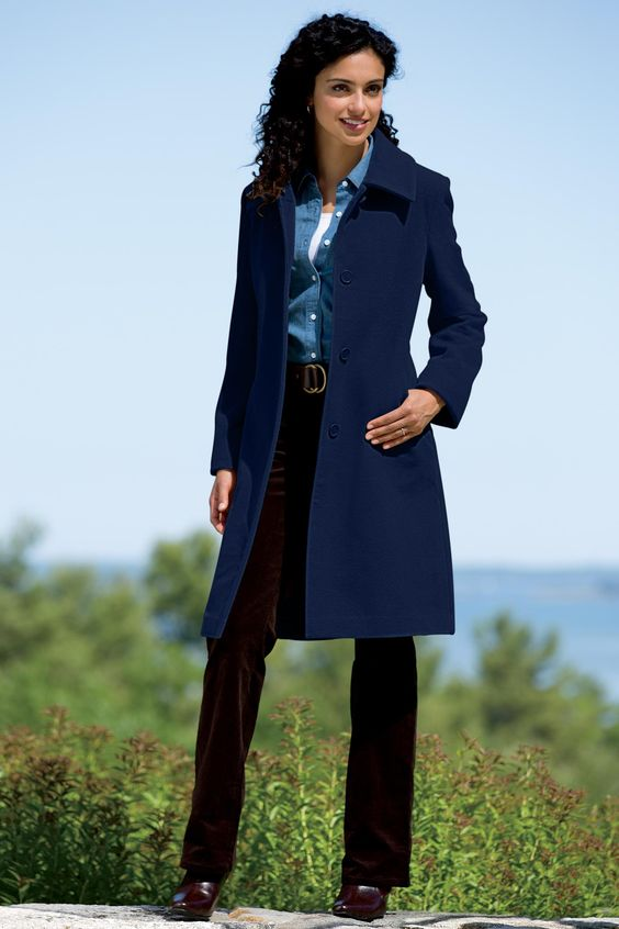 Women's Classic 3/4 Length Wool Coat | Chadwicks of Boston