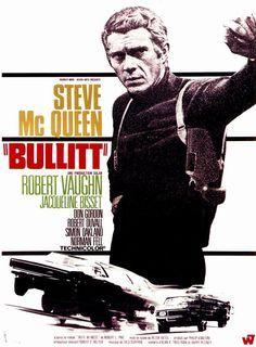 BULLITT Poster 27x40 Steve McQueen Classic Movie Poster.