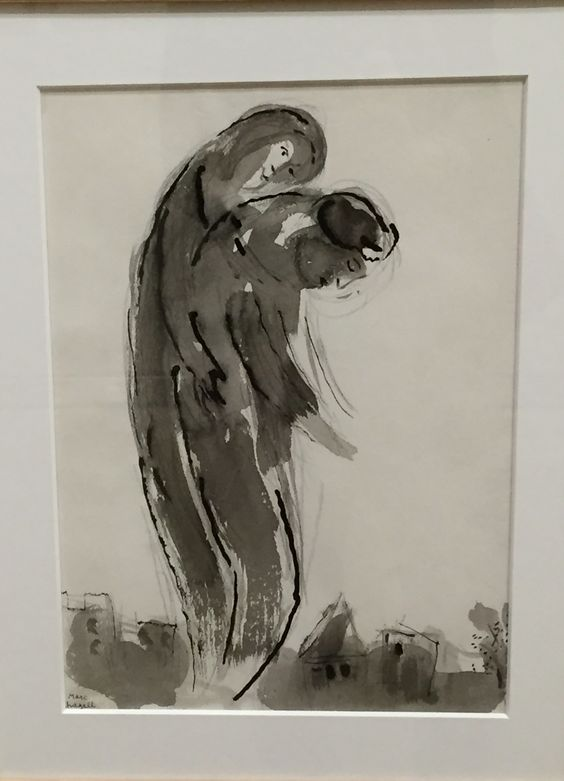 Les amants éconduits, Chagall.