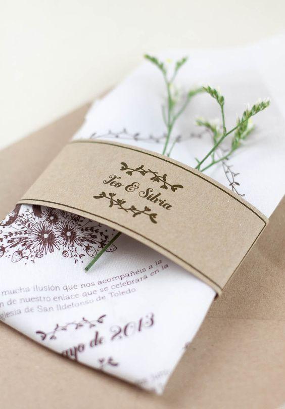 """Invitación de boda pañuelo """"Floral"""""""