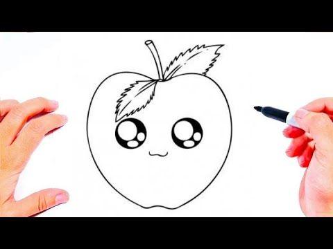 رسم سهل طريقة رسم تفاحة للاطفال تعليم الرسم للأطفال تعلم الرسم رسومات سهله وجميله Youtube Easy Drawings Art Drawings