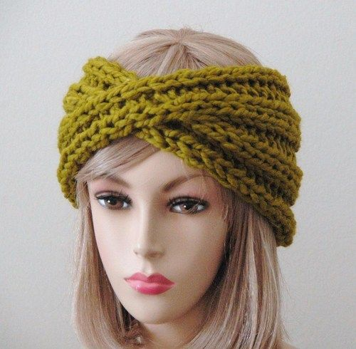 Headband de tricô