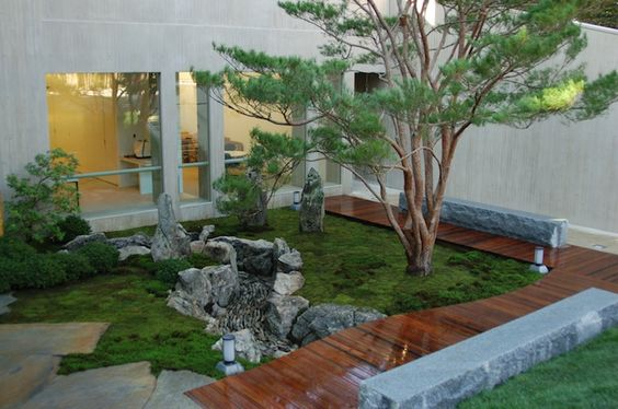 Check out the amazing wooden deck and stone terrace; by Marc Peter Keane - Landscape Architect and Writer