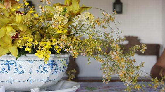 Flores amarelas para dar um charme na decoração.