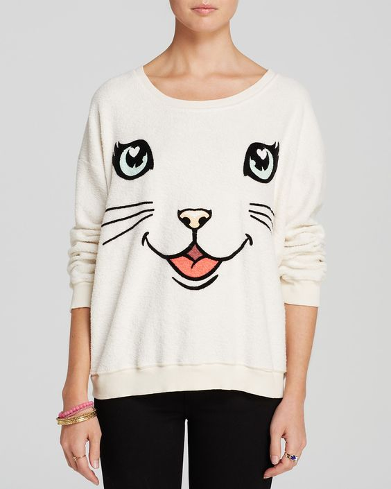 WILDFOX Pullover - Happy Cat | Bloomingdales large