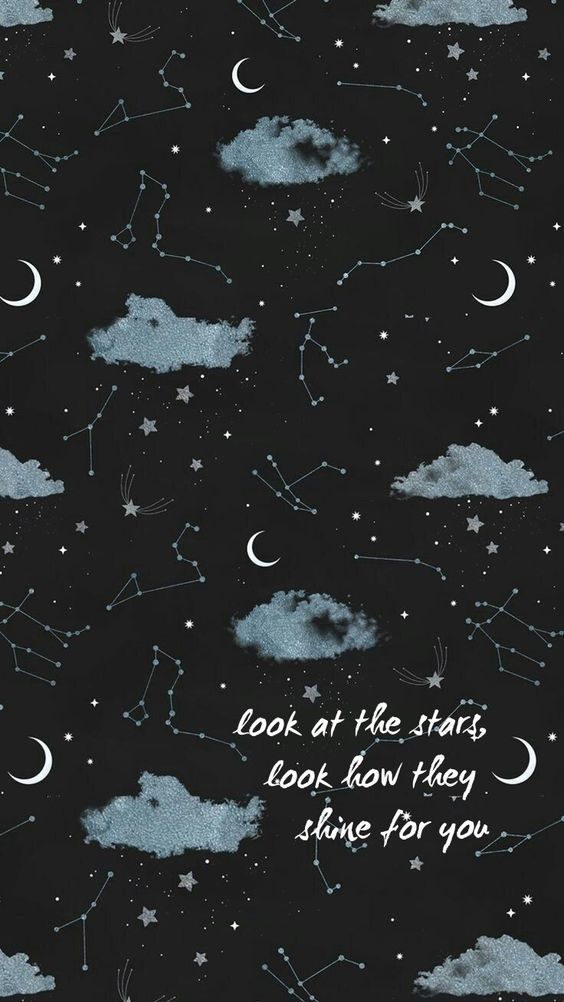 Quote Night Sky Wallpaper Moon And Stars Wallpaper Star Wallpaper