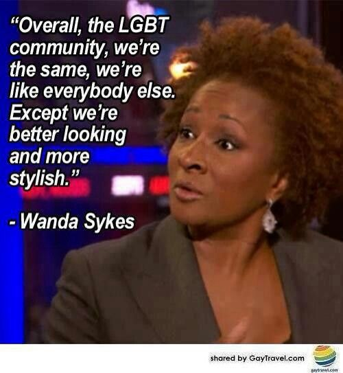 Wanda sykes bisexual