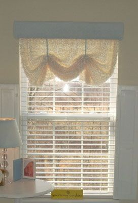 Easy window treatment: Chick Window, Sew Window, Easy Window Treatments, Window Curtains, Easy Curtain, Diy Curtain, No Sew Curtains, Craft Ideas, Curtain Ideas