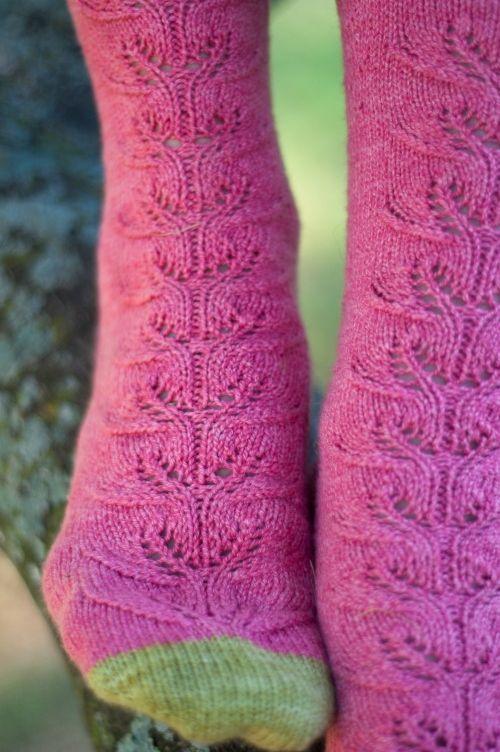 Summer Slice sock pattern