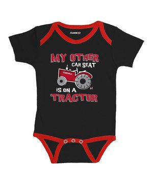 Loving this International Harvester Black 'My Other Car Seat' Bodysuit - Infant on #zulily! #zulilyfinds
