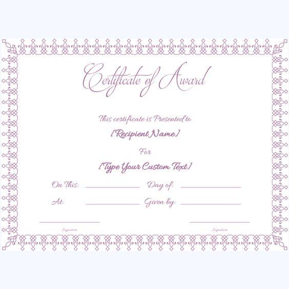 School Award Certificate Templates – School Award Templates