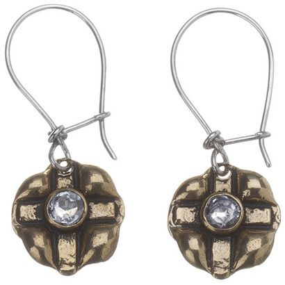 stamped cross earrings.  i wear these all the time.