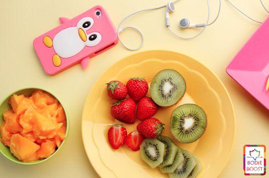 Gezonde bikini snack met fruit