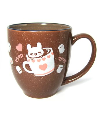 .... uwaaah! QWQ I've spent too much this month already but... but... this is adorable! AND microwave-safe! Something my current mug isn't!
