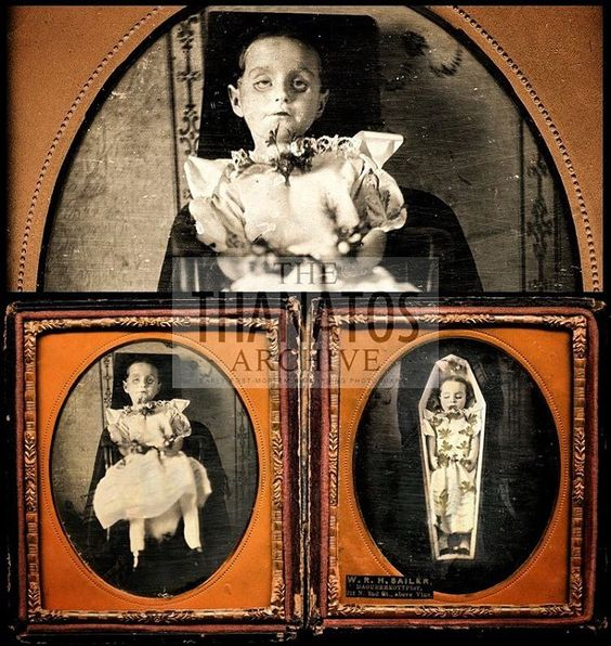 Victorian post mortem photography may seem strange, but for some families it was their only opportunity to have a memento of their loved one as photography was expensive at the time. Sometimes the dead were posed as if alive and sometimes are of children and babies due to the high death rate among this group at the time.: