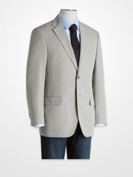 Blue and Black Checked Sport Coat menswear jacket | Summer Sport