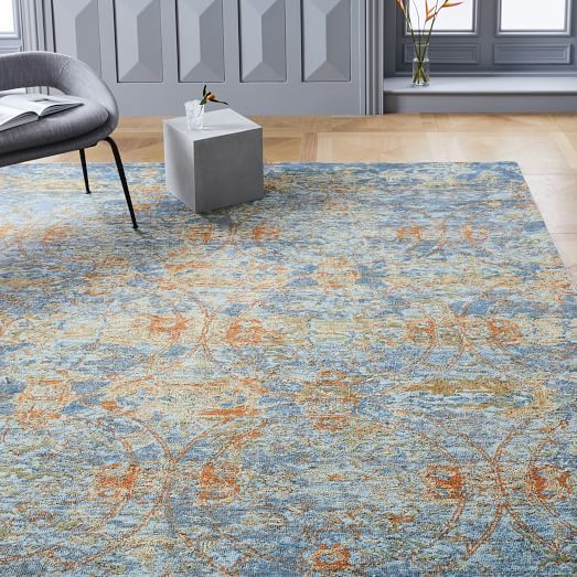 Verve Rug Midnight West Elm Rugs In Living Room Cool Rugs Small Apartment Decorating