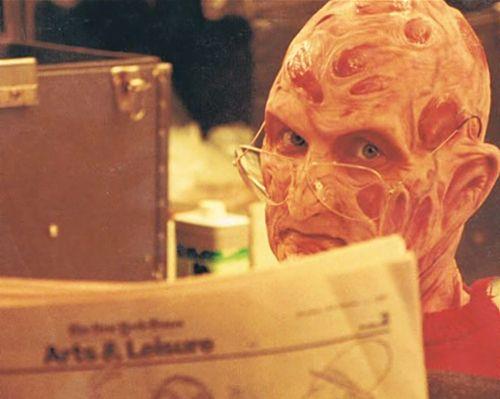 A literate Freddy Krueger! (Robert Englund)