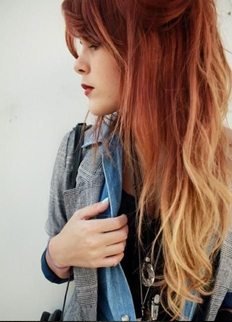 25 hottest ombre hair color ideas right now kupfer - Ombre hair haarfarbe ...
