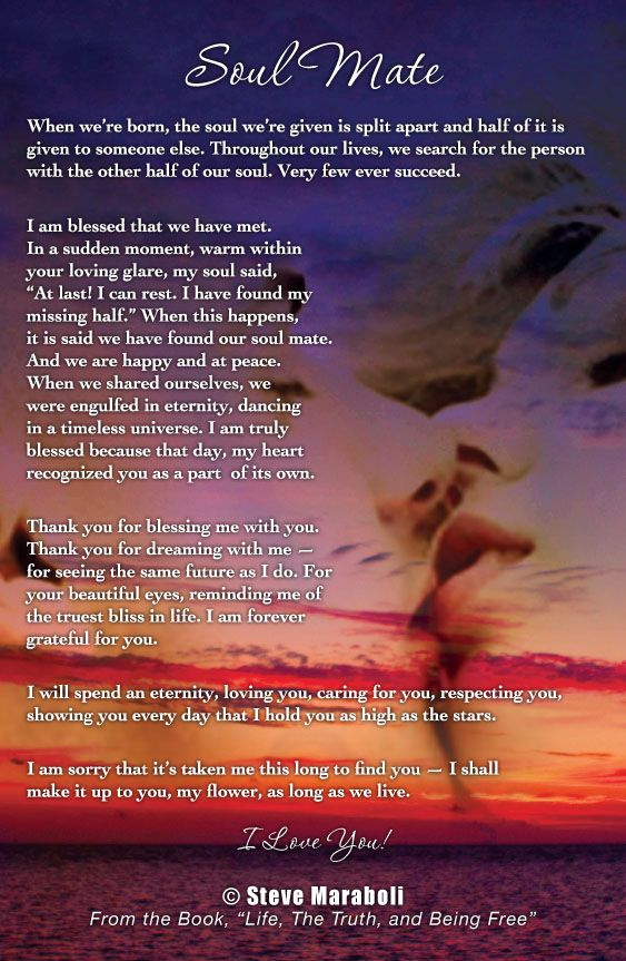 Soul Mate Poems And Quotes Wwwpicsbudcom