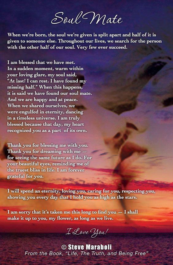 Soul Mate Poems And Quotes Wwwpicsbudcom