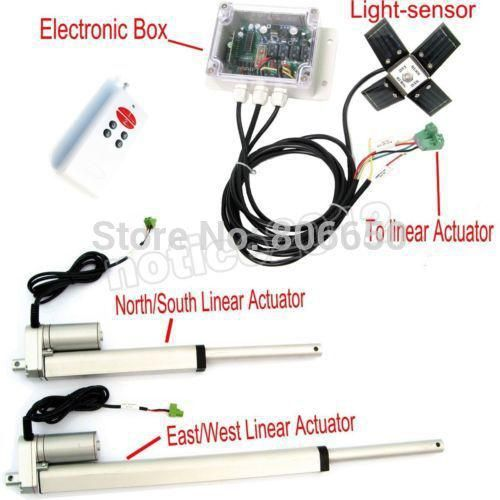 Usa Au Stock Dual Axis 6 12 Linear Actuator Solar Controller Complete Kit Sunlight Tracking System Free Shipping Yesterd Home Appliances Linear Actuator Solar Tracker Solar