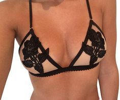The gorgeous Rosanna Bralette handmade and sold exclusively on: www.bydeeaus.com