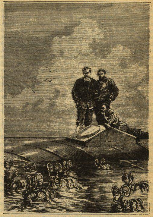 Argonauts Surrounding The Nautilus In Jules Verne S Novel Twenty Thousand Leagues Under The Sea Literature Art Character Art Jules Verne