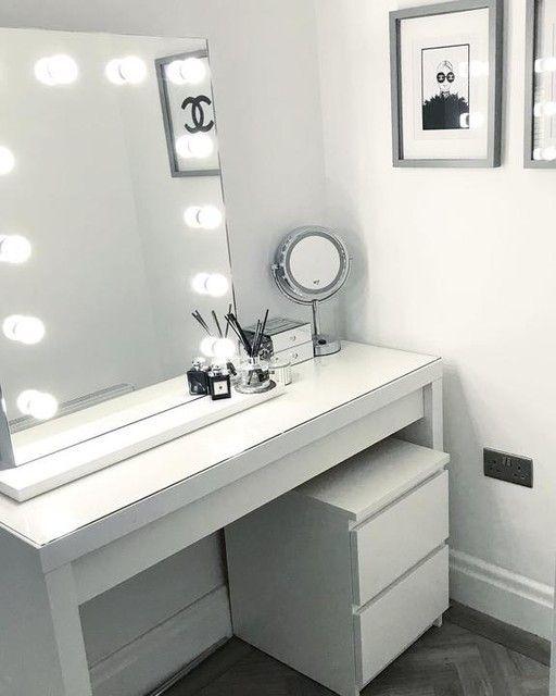 Malm Dressing Table White 120x41 Cm Stylish Bedroom Malm