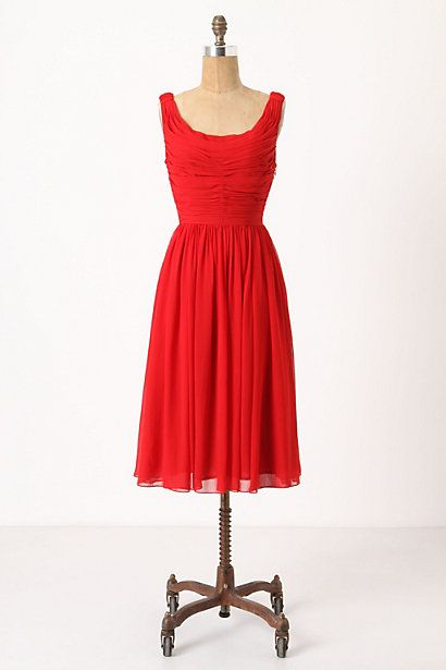 Shown In: Red     Petite  Regular  size guide  SizeShowadd to bag  Add To Wish ListSend To Friend  DETAILS  A gracefully gathered silhouette of cherry chiffon, with a flowy, flouncy, peplum-like overskirt for maximum lovliness. By Moulinette Soeurs.