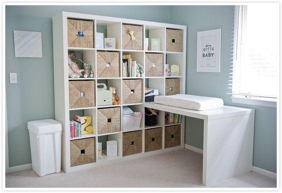 Schreibtisch als Wickelkommode  Baby Zimmer  Pinterest  Ikea