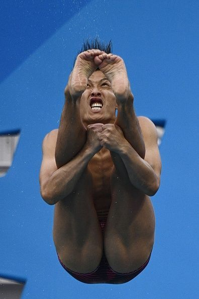 #TOPSHOT Japan's Ken Terauchi competes in the Men's 3m Springboard Preliminary during the diving event at the Rio 2016 Olympic Games at the Maria Lenk...