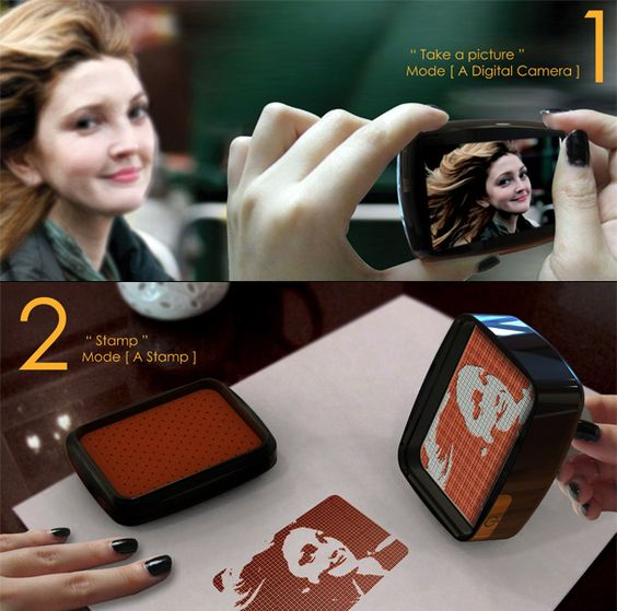 A camera that turns any photo into a stamp