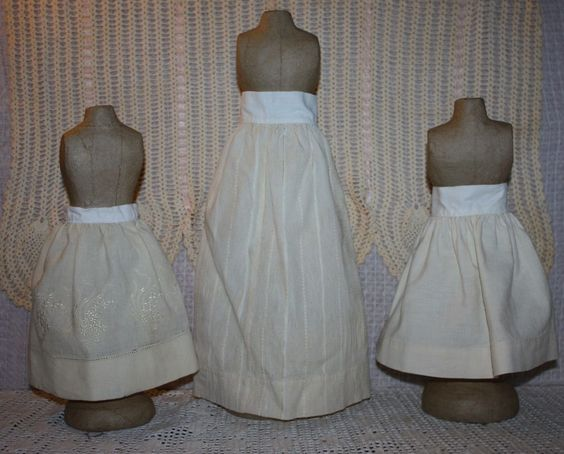Three Wool Slips for Bisque Dolls Early 1900s