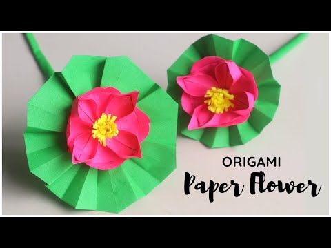 Origami fleur de lotus - YouTube | 360x480