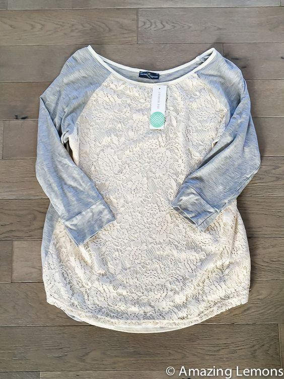 Stitch Fix Bernadette lace overlay Raglan top-WANT this color, maybe medium though
