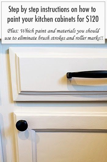 Step by step instructions on how to paint your kitchen for Best brush for painting cabinets
