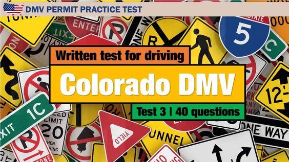 Written test for driving: Colorado DMV Permit Practice Test 3