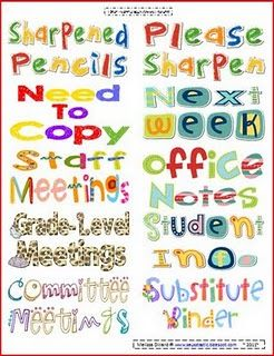 Teacher Organization 2x4 Labels