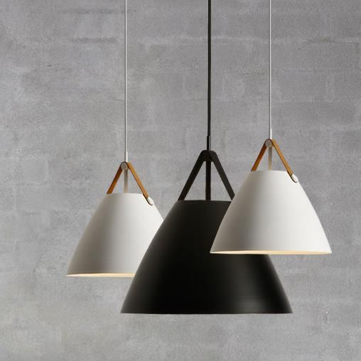 Leather Strap Suspension Minimalist Pendant Ceiling Light Ceiling Lights Ceiling Pendant Lights Black Pendant Light Fixtures