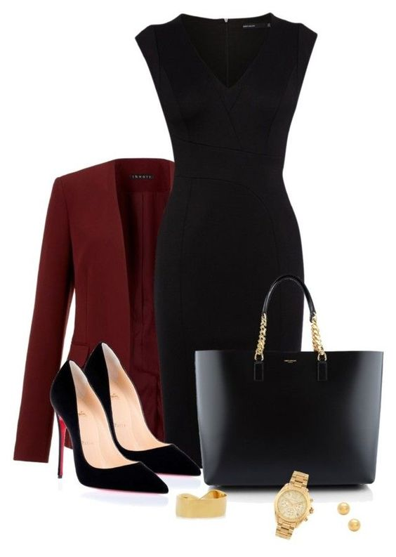 Untitled #192 by tijana89 on Polyvore featuring polyvore fashion style Karen Millen Theory Christian Louboutin Yves Saint Laurent Michael Kors Chloé: