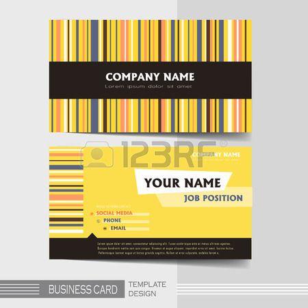 Vektor Gelb und Schwarz stilvolle Visitenkarteschablone Lizenzfreie Bilder