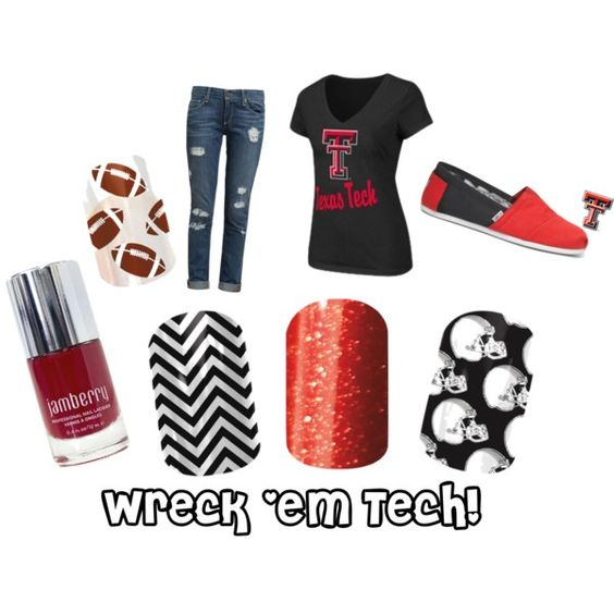 """""""Red Raiders Jamberry"""" by ginnygreen on Polyvore"""