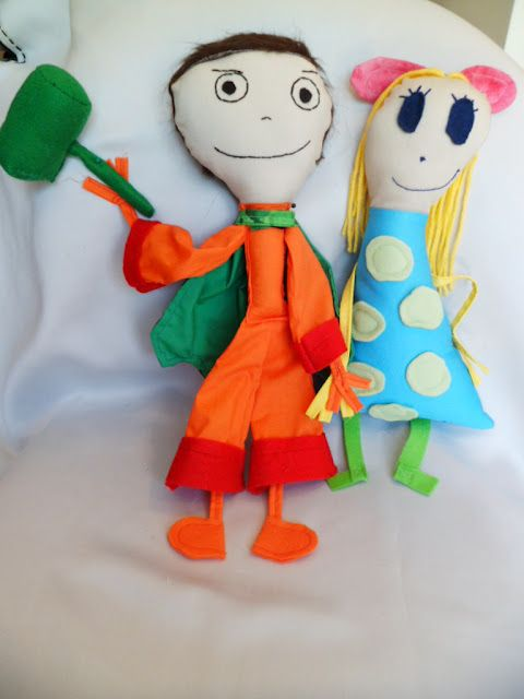 Turn your child's artwork into a plush toy, Kid Inspired Creatures