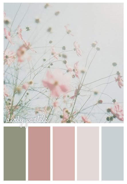 Nice shabby chic combo - good colors for shabby-chic painted rocks and stones