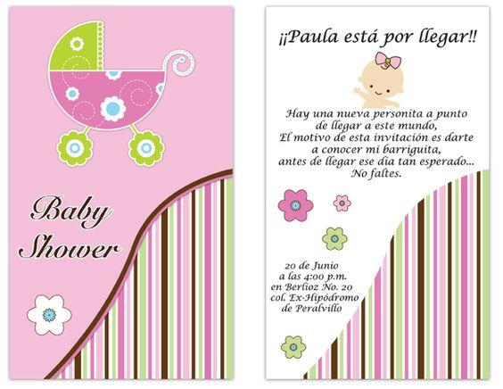 DISEÑOS GRATIS PARA INVITACIONES DE BABY SHOWER - Imagui | Texto ...