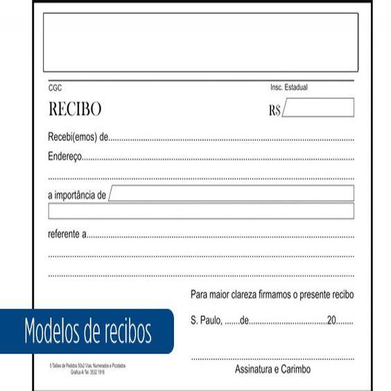 Modelo de Recibo Pronto: Aluguel, Prestação de Serviço, Impressão