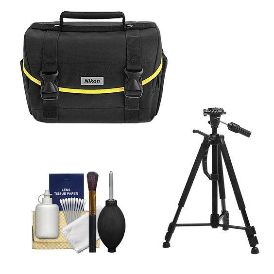 Amazon.com : Nikon Starter Digital SLR Camera Case - Gadget Bag with Tripod + Cleaning Kit for D3200, D3300, D5300, D5500, D7100, D7200 : Camera & Photo:
