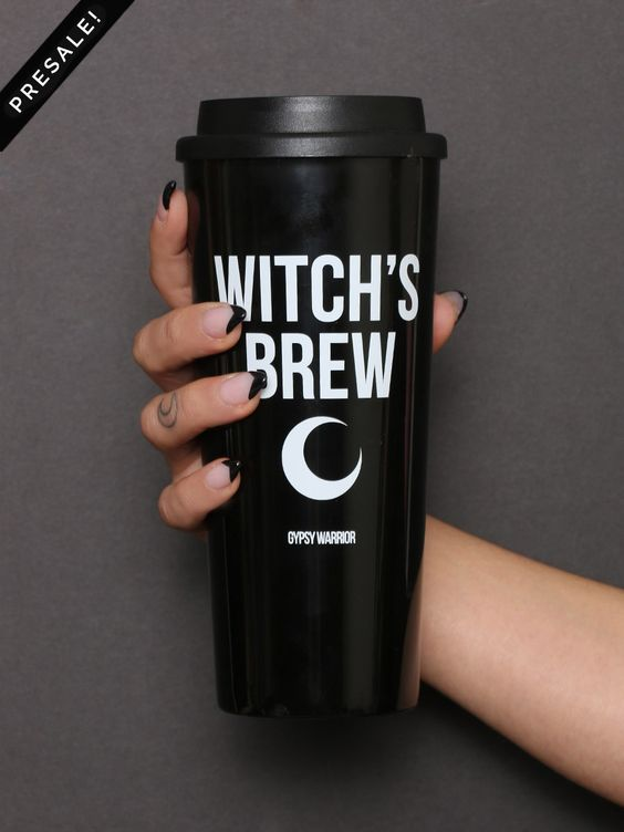 Pinterest: @MagicAndCats ☾ Witches brew mug. So adorable!